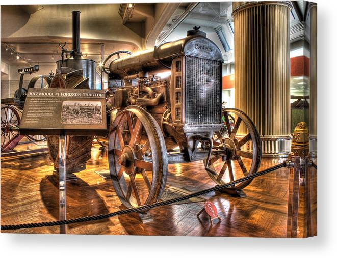 Canvas Print featuring the photograph 1917 Model 1 Fordson Tractor Dearborn MI by Nicholas Grunas