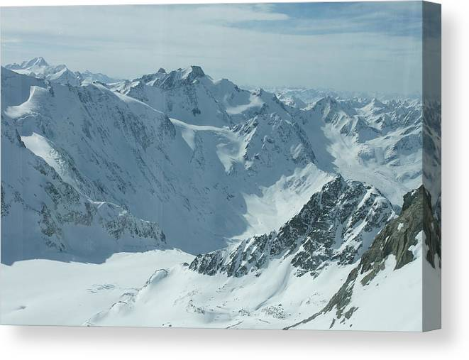 Pitztal Glacier Canvas Print featuring the photograph Pitztal Glacier by Olaf Christian