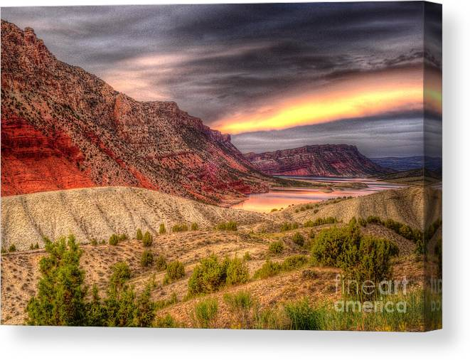 Places Canvas Print featuring the photograph Sheep Creek Bay by Dennis Hammer