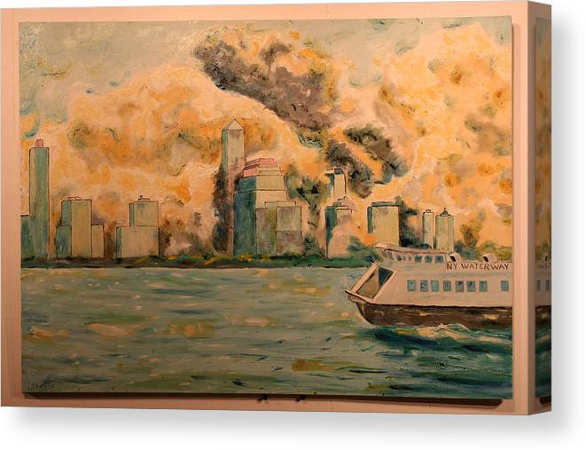 Canvas Print featuring the painting 9112001 by Biagio Civale