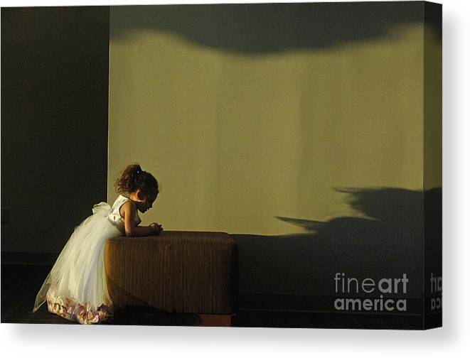 Child Canvas Print featuring the photograph A Child's Prayer by Gib Martinez