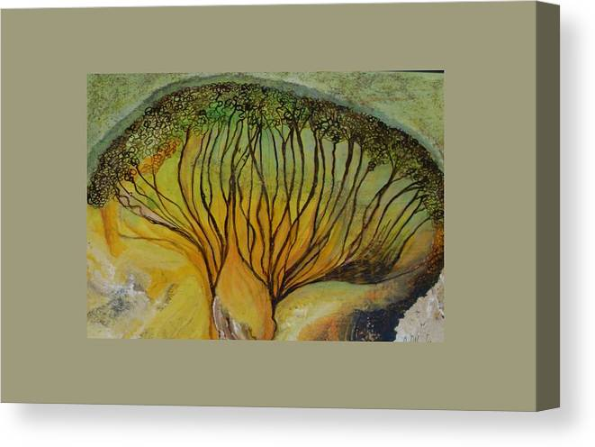 Canvas Print featuring the painting AA dream by Carol P Kingsley