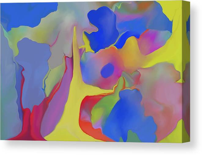 Abstract Canvas Print featuring the digital art Abstract Landscape by Peter Shor