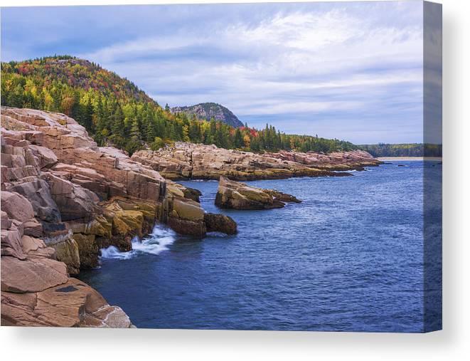 Acadia's Coast Canvas Print featuring the photograph Acadia's Coast by Chad Dutson