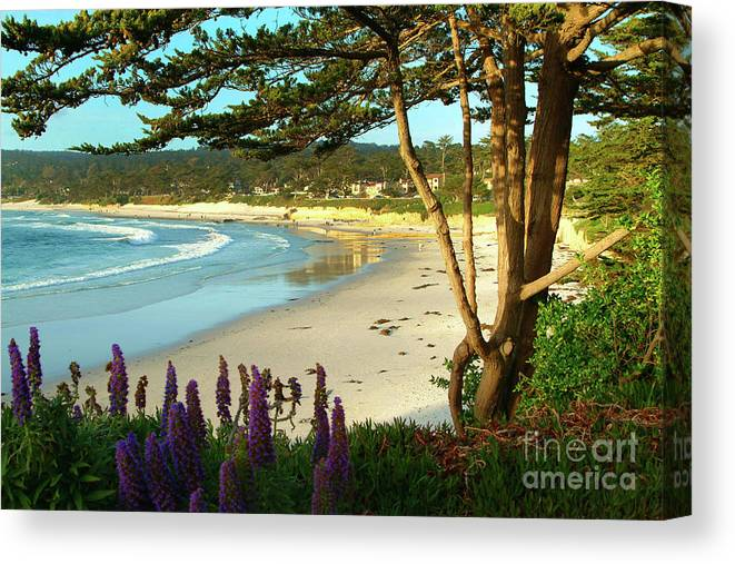 Carmel-by-the-sea Canvas Print featuring the photograph Afternoon On Carmel Beach by Charlene Mitchell