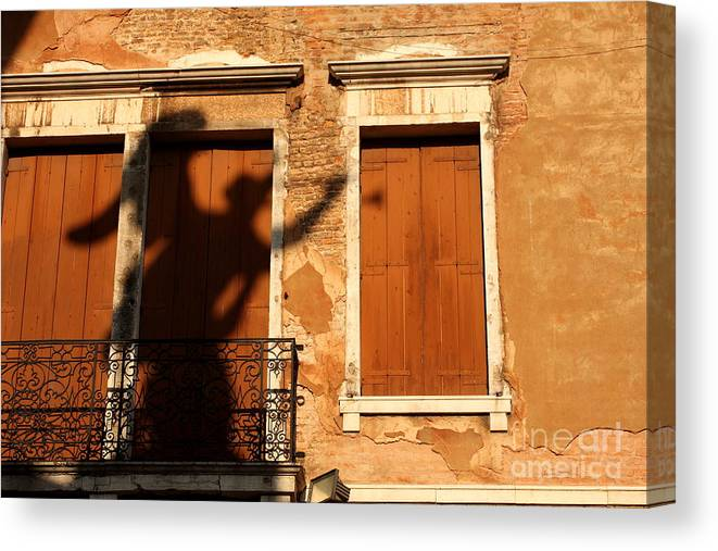 Venice Canvas Print featuring the photograph Angel Shadow in Venice by Michael Henderson