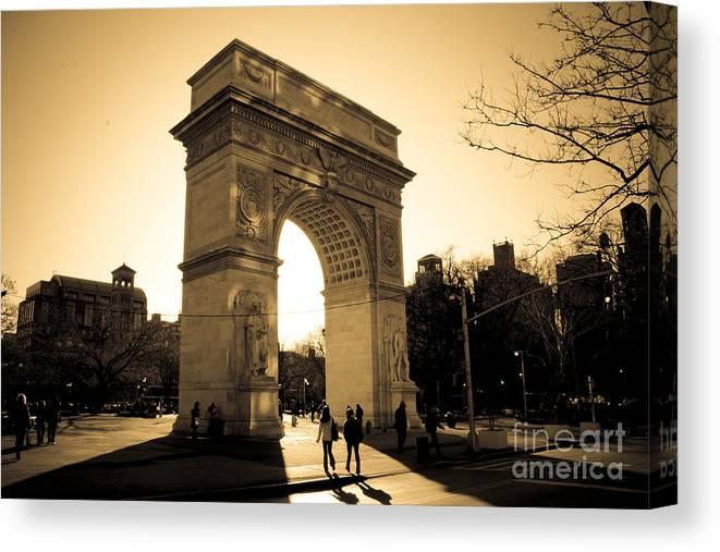 Washington Square Park Canvas Print featuring the photograph Arch of Washington by Joshua Francia