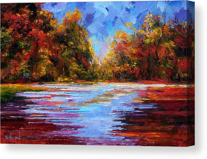 Fall Canvas Print featuring the painting Autumn Morning by Debra Hurd