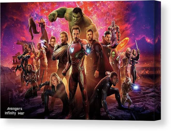Art Print Poster Canvas AVENGERS Infinity War