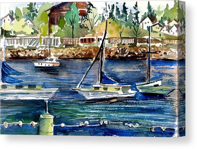 Bellingham Canvas Print featuring the painting Bellingham Washington The Beauty by Mindy Newman
