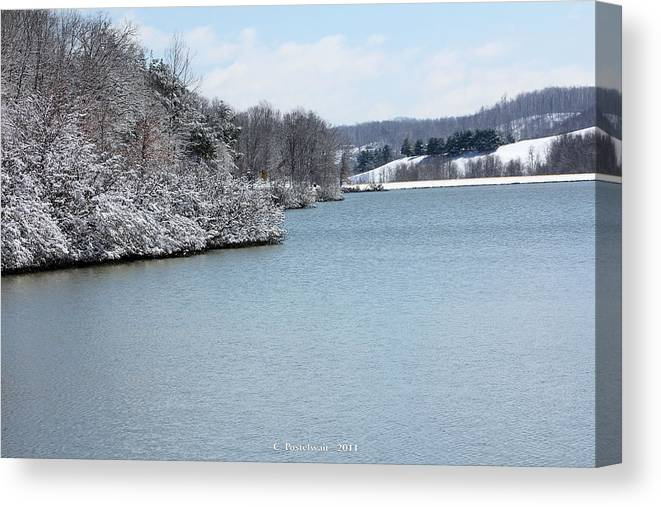 Big Ditch Lake Canvas Print featuring the photograph Big Ditch Lake 2 by Carolyn Postelwait