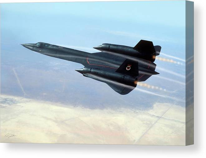 Aviation Canvas Print featuring the digital art Black Power by Peter Chilelli