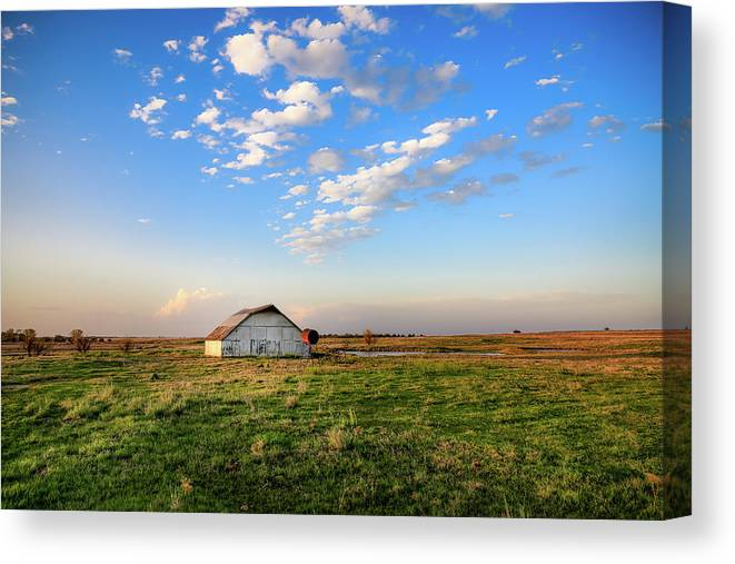 Blue Sky Days - Barn Under Big Blue Sky in Oklahoma by Southern Plains Photography