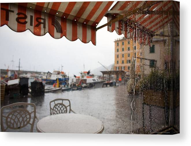 Italy Canvas Print featuring the photograph Camogli 2 by Luigi Barbano BARBANO LLC