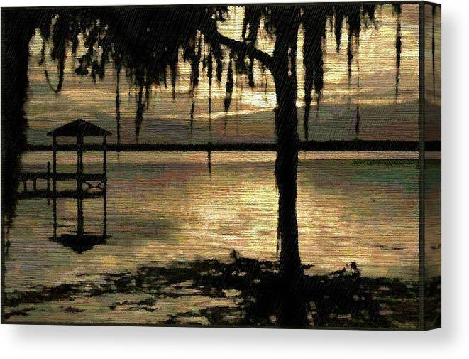 Florida Canvas Print featuring the digital art Colee Cove by Scott Waters