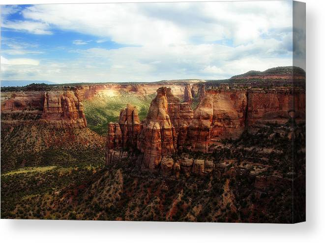 Americana Canvas Print featuring the photograph Colorado National Monument by Marilyn Hunt