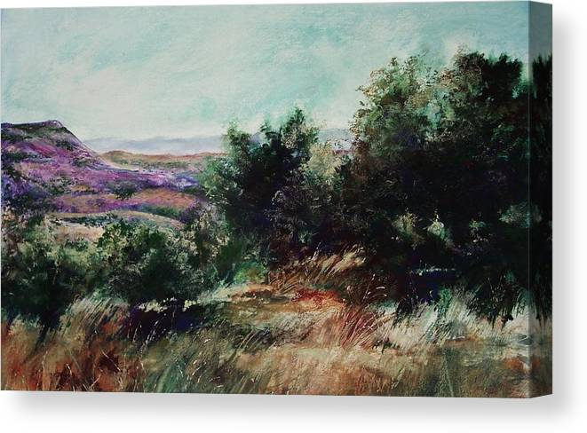Pastel Canvas Print featuring the painting Davis Mountain by Marlene Gremillion