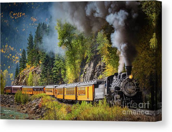 America Canvas Print featuring the photograph Durango-Silverton Narrow Gauge Railroad by Inge Johnsson