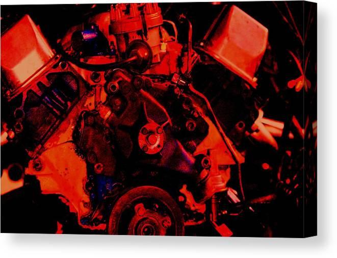 Engine Canvas Print featuring the digital art Engine 2 by Lisa Johnston