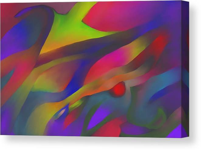 Colorful Canvas Print featuring the digital art Flowing Energies by Peter Shor
