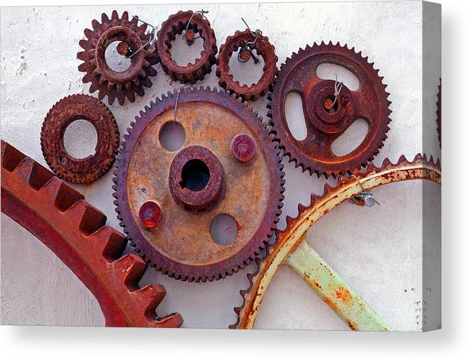 Gears Canvas Print featuring the photograph Ghost by Skip Hunt
