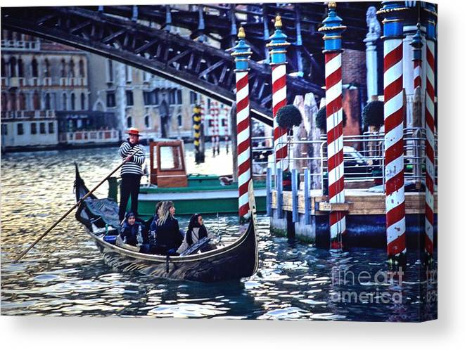 Venice Canvas Print featuring the photograph Gondola in Venice on Grand Canal by Michael Henderson