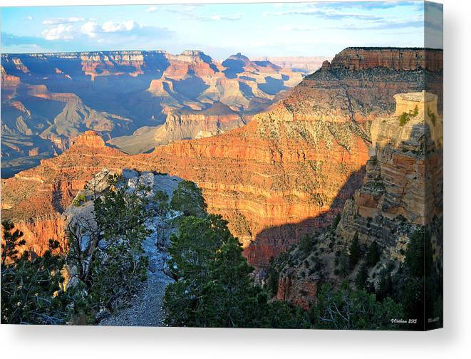 Grand Canyon Canvas Print featuring the photograph Grand Canyon South Rim at Sunset by Victoria Oldham