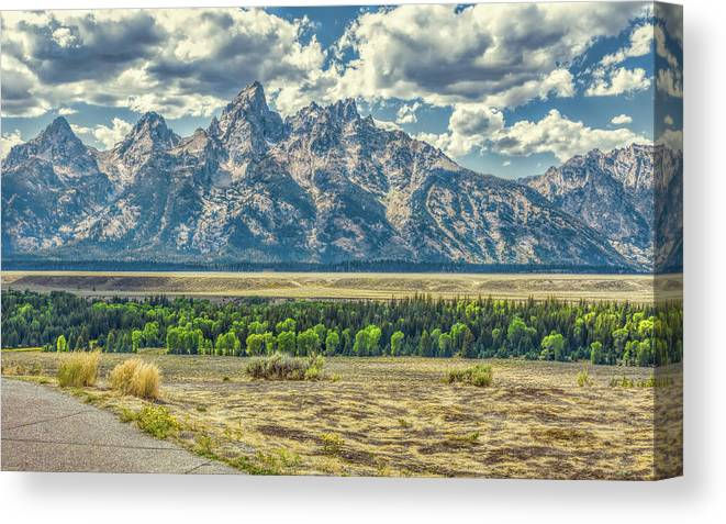 Jackson Canvas Print featuring the photograph Grand Tetons National Park by John M Bailey