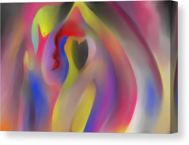 Abstract Canvas Print featuring the painting Gratitude by Peter Shor