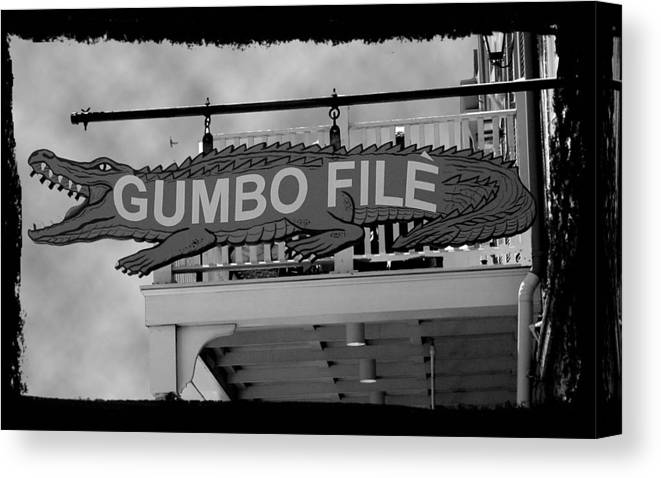 New Orleans Canvas Print featuring the photograph Gumbo File by Linda Kish