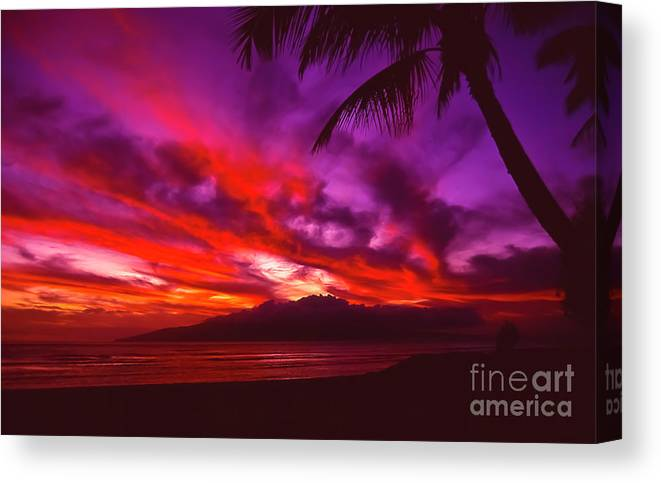 Landscapes Canvas Print featuring the photograph Hand of Fire by Jim Cazel