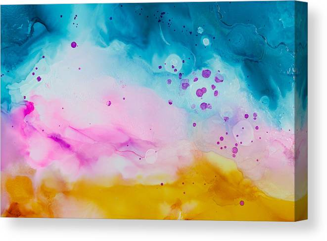 Abstract Canvas Print featuring the painting Heat Wave - A by Sandy Sandy