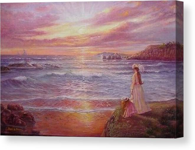 Seascape Canvas Print featuring the painting Hope by Naomi Dixon