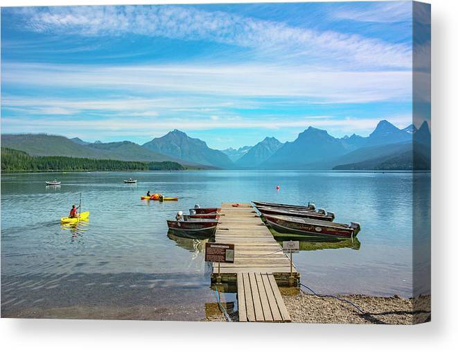 Montana Canvas Print featuring the photograph July 4th on Lake McDonald by Bryan Spellman