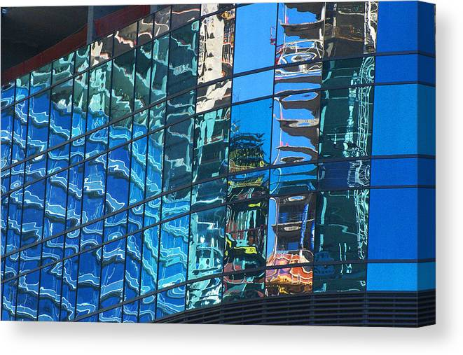 City Center Canvas Print featuring the photograph Las Vegas City Center Reflection by Richard Henne