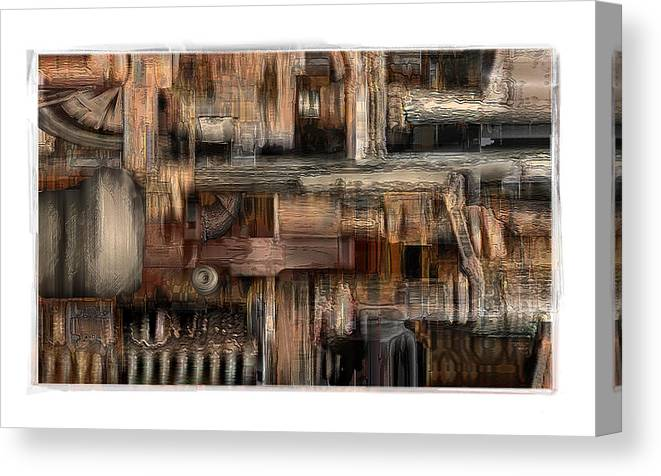 Still Life Canvas Print featuring the digital art Lathe by Nuff
