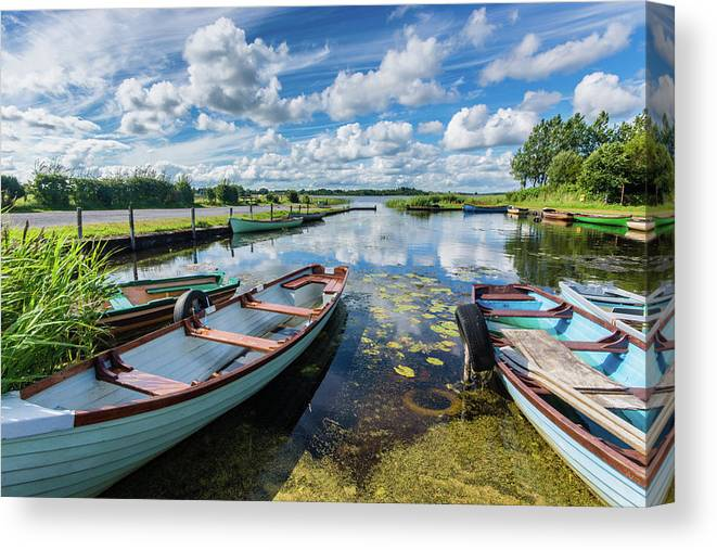 Landscape Canvas Print featuring the photograph Lough O'Flynn, Roscommon, Ireland by Anthony Lawlor