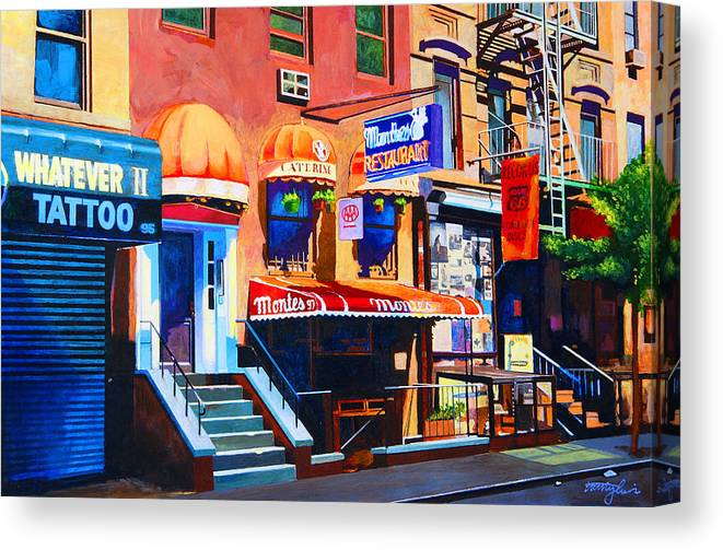 Macdougal Street Canvas Print featuring the painting MacDougal Street by John Tartaglione