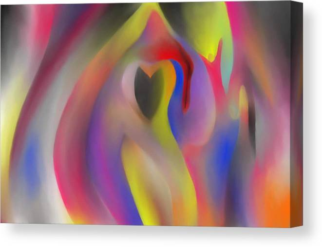 Abstract Canvas Print featuring the painting More Gratitude by Peter Shor