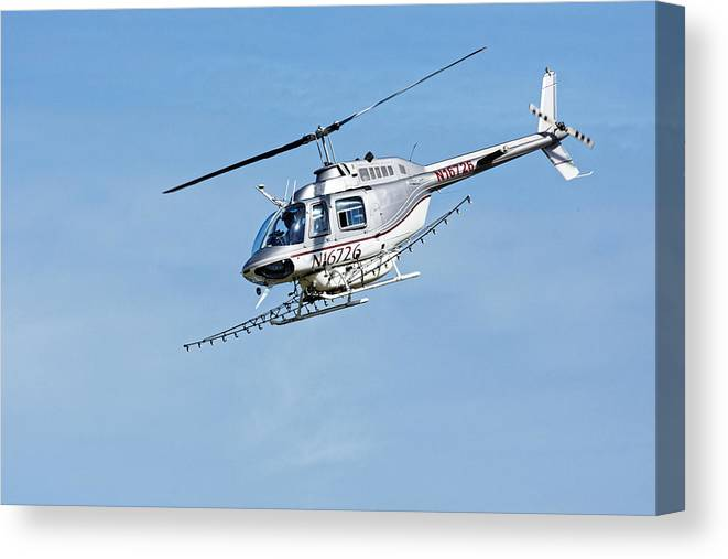 Darin Volpe Aerospace Canvas Print featuring the photograph N16726 -- Bell 206b Jetranger IIi In Templeton, California by Darin Volpe