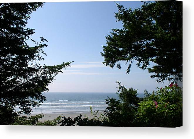 Water Canvas Print featuring the photograph Ocean Shores by Valerie Josi
