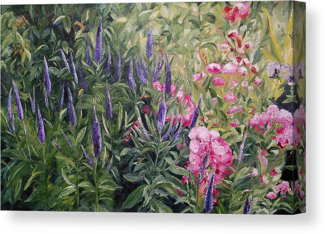 Konkol Canvas Print featuring the painting Olbrich Garden Series - Garden 2 by Lisa Konkol