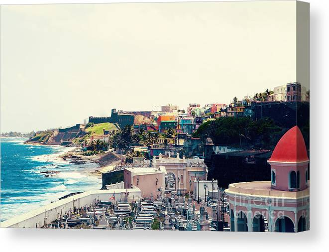 San Juan Canvas Print featuring the photograph Old San Juan Puerto Rico by Kim Fearheiley