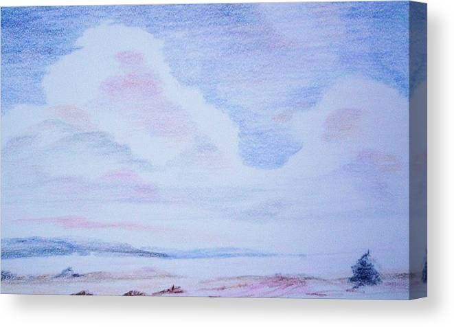 Landscape Painting Canvas Print featuring the painting On the Way by Suzanne Udell Levinger