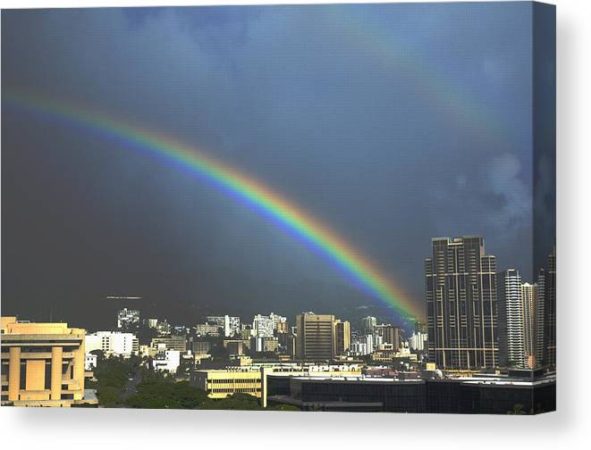 Rainbow Canvas Print featuring the photograph Over the Double Rainbow by Richard Henne
