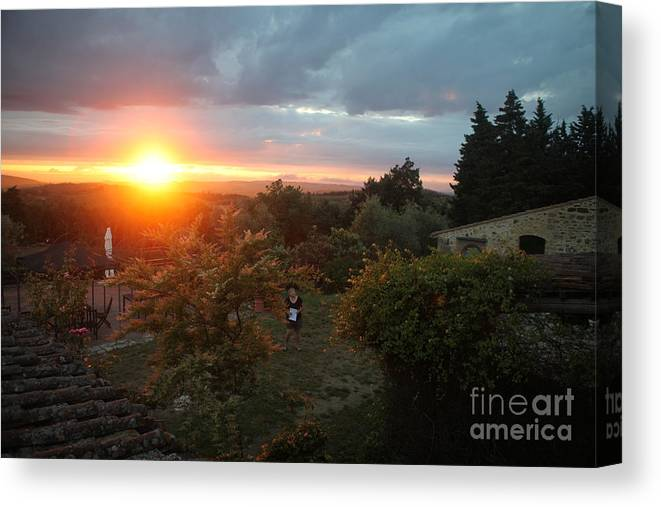 Sunset Canvas Print featuring the photograph Patrignone At Sunset by Nadine Rippelmeyer