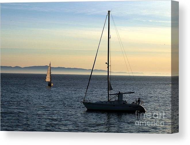 Clay Canvas Print featuring the photograph Peaceful Day In Santa Barbara by Clayton Bruster