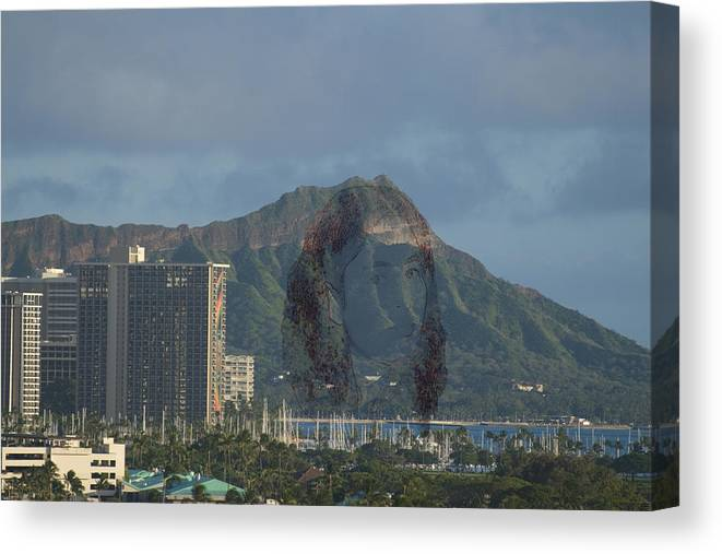 Pele Canvas Print featuring the photograph Pele Shows Herself On Diamondhead by Richard Henne