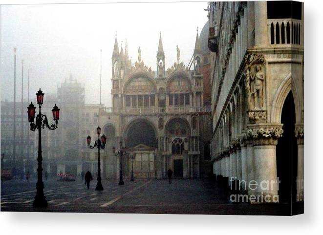 Venice Canvas Print featuring the photograph Piazzetta San Marco in Venice in the Morning Fog by Michael Henderson