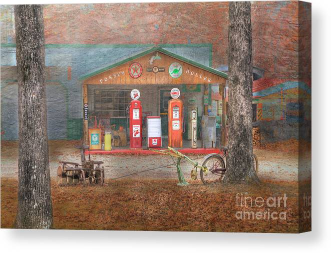 Travel Canvas Print featuring the photograph Possum Holler by Larry Braun